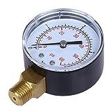 SGerste filtro de agua para alberca, medidor de presión de agua 0-60 PSI montaje lateral 1/4' NPT rosca de tubo 0-4 bar 60 psi