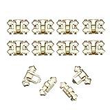 HWW-JIAJUPEIJIAN, Hebilla de la cerradura Gold Box 10pcs del cerrojo de bloqueo asegura decorativo de captura joyería Caja Maleta de la vendimia Muebles de cierre con tornillos ( Size : 33*25mm )