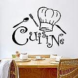 Tianpengyuanshuai DIY Chef Cocina calcomanías de Vinilo Cocina decoración del hogar calcomanías de Arte de Pared calcomanías de Papel Tapiz -102x135cm