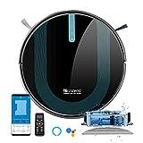 proscenic 850T Robot Aspirador y Fregasuelos, 3000Pa, Compatible con Alexa & Google Home, Muro Magnético, Depósito y Tanque 2 en 1 para Aspira, Barre, Friega y Pasa la Mopa, Azul Oscuro