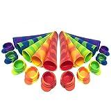 10 Moldes de Silicona Premium para Helados, Ice Pop, Ice Lolly  Tapa a Prueba de Fugas, Gran Capacidad 80ml - Grado Alimenticio, 100% Sin BPA  Reutilizable, Fácil de Limpiar y Apto Para Lavavajillas.