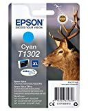 Epson T1302de tinta Cian extra alta kapazitã ¤ T 10.1ml pack de 1ampolla sin alarma–DURABrite Ultra Ink