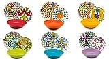 Excelsa Lisbona 62492 Servicio de platos de 18 piezas, porcelana y cerámica, multicolor