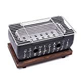 JVSISM Coreano Japonés BBQ Horno de Parrilla Parrilla de carbón de aleación de Aluminio Accesorios portátiles para Fiestas Herramientas de Barbacoa de casa
