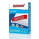 dustwave Megapack - 20 bolsas de filtro para aspiradora Aldi - QU 110 / QU110 - Fabricado en Alemania + Incluye microfiltro