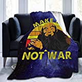 Yuanmeiju Make Tea Not War Flannel Blanket Throw Super Soft Plush Luxury Lightweight for Sofa Couch Bed for Adult