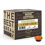 Note d'Espresso - Cápsulas de café para las cafeteras Lavazza y A Modo Mio, Colombia, 7 g (caja de 100 unidades)