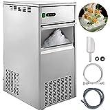 Electrodomésticos Herramientas de cocina Máquina de hielo en escamas comercial Máquina de hielo en escamas de nieve 580W Capacidad de almacenamiento de hielo de 66 LB Máquinas de hielo raspado Máqu