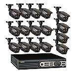 Q-See qt5616–16e2–216Canales 960H Tiempo Real DVR y 16960H/700TVL Bala cámaras con 2TB Disco Duro–Negro