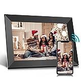 Jeemak Marco de fotos digital WiFi de 10.1 pulgadas con pantalla táctil HD que gira automáticamente para compartir fotos y vídeos a través de la aplicación en cualquier momento y en cualquier lugar