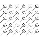 Lsydgn Ganchos para tablero perforado Ganchos metal para tableros perforados Juego de ganchos para panel perforado Ganchos para paneles perforados para estantes de pared perforados convencionales