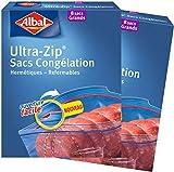 Albal, Bolsas para congelación, cierre Ultra-Zip, hermético, 8L, Pack de 2x8 unidades