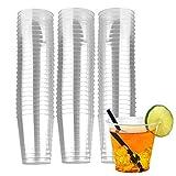 vasos de plástico desechables,Vasos Tazas Transparentes,Vasos de Cerveza,Vajilla Desechable,para picnic, fiestas, barbacoa, eventos y viajes (50ml)