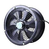 YINUO Fans Ventilador eléctrico Gran Volumen de Aire/Extractor de Pared/Cilindro Ventilador de Metal Lleno/Extractor Industrial/Campana extractora de Humos de Cocina para el Taller, Garaje 12