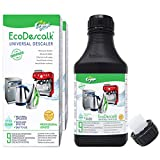 EcoDescalk Universal Ecológico Concentrado 2x9 Descalcificaciones. Descalcificador 100% Natural. Limpiador para Todo Tipo de Electrodomésticos: Hervidores, Lavadoras, Lavavajillas. Producto CE.