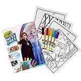 CRAYOLA - Plantillas para colorear y rotuladores, diseño de Frozen 2, multicolor, tamaño único