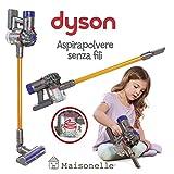 ODS- V8 Dyson Aspirador de Juguete para niños, Color Gris, Naranja y Morado, 20800