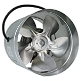 Conducto Inline 210mm fan de zinc de metal chapado en ARW la canalización extractor industrial