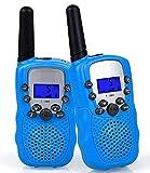 Flybiz Walkie Talkie Niños PMR446 8 Canales LCD Pantalla Función VOX 10 Tonos de Llamada Bloqueo de Canal Linterna Incorporado 8 Canales LCD Pantalla VOX (Azul)