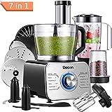Decen Procesador de Alimentos/ Robot de Cocinay con 8 Accesorios, Potencia 1100 W y Capacidad 3.5 Litros(Recibido Dentro de 5 Días)