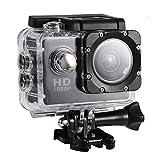 Tosuny Cámara de acción DV Cámara Impermeable al Aire Libre, Mini DV cámara de Videocámaras de acción Soporte USB TF Tarjeta(Negro)
