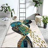 HXJHWB Alfombra De Salón De Pelo Corto Diseño para - Alfombra Rectangular Creativa de la Escuela de Peces pequeños, Accesorios para el hogar duraderos Interiores Modernos-El 120CMx160CM