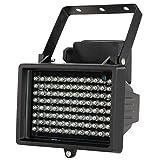 KKmoon 96 LED Lámparas Iluminador IR Matriz 12W Infrarrojo Visión Nocturna Impermeable al Aire Libre para Cámara de Seguridad CCTV