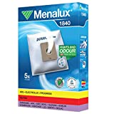 Menalux 1840 - Pack de 5 bolsas sintéticas y 1 filtro para aspiradoras Nilfisk Bravo, Coupe y One, Samsung, Solac Springtec y Taurus Polo 2000