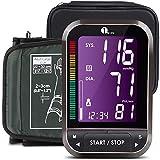 1byone basic Tensiómetro de Brazo digital, Monitor Eléctrico de Presión Arterial Medición con Gran Pantalla LCD, Detección del Pulso Arrítmico