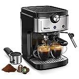 Cafetera Espresso Sboly, Cafetera 2 en 1 para Nespresso Compatible con Café Molido y en Cápsulas, Máquina de Espresso de 19 Bares con Tanque de Agua Removible y Boquilla de Vapor