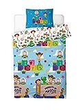 Toy Story 4 Funda Nórdica Infantil Juguetes Toy Story Woody Buzz Lightyear Jessie, Juego de Funda de Edredón + Funda De Almohada Infantil, Ropa De Cama Niños, Regalos Originales Para Niño Niña