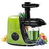 CIRAGO Máquinas exprimidoras, extractor de masticación lenta de dos velocidades, fácil de limpiar, motor silencioso, exprimidor de presión en frío para verduras y frutas, sin BPA verde