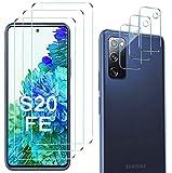 Luibor [6 in 1] Cristal Templado Samsung Galaxy S20 FE+ Cámara Protector de Pantalla,[9H Dureza] [Compatible con la Funda] [Equipado con Soporte de Montaje más Seguro] 4G/5G