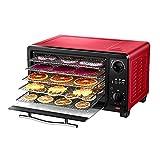 SOAR Deshidratadores secador de Fruta, secador de Comida, Carne Vegetal y deshidratador de Fruta, 4-Capa Hornear Capacidad de la Bandeja, con la función de temporización, Ajustable de 50 ° C a 80 ° C