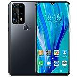 Teléfonos Móviles Libres Baratos 4G | Android 10 Celulares Desbloqueados con Huella Dactilar | Dual SIM Smartphone Libres | 6GB RAM + 128GB ROM | 6.8' Water-Drop Pantalla | Batería 4800mAh(Black)