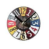 VORCOOL frigorífico mandos retro cocina pizarra imanes frigorífico adhesivo oficina imanes antiguo reloj Vintage no tic-tac reloj ahorcamiento