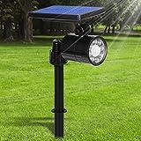 Lamparas Solares 800 Lumens Ultra Potente 8 LED Apliques de Pared, 4 Modos Focos Solares Exterior con Sensor de Movimiento, Impermeable IP65 360 ° Ángulo Ajustable Farolas Solares