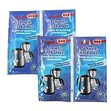 Orofix com-Four Paquete económico de descalcificador rápido 60 g para cafeteras y hervidor (04 x 15g)