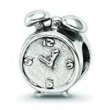 Sterling Silver Reflections Alarm Clock Bead Charm Pendant
