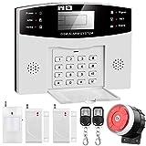 Sistema de Alarma gsm para Casa, Inalámbrico, Antirrobo, Servicio + Garantía, Multi-Accesorios y Pilas Incluidas, Voz y LCD Pantalla en Castellano, Expandible 99 Sensores para Oficina en el Hogar