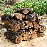 20 kg, 30 Litros leña para chimenea variada, alto poder calorífico. Troncos cortos 40 cm, Estufa, barbacoa, fuego al aire libre, tala sostenible