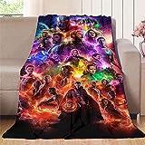 NUOMANAN Manta de viaje de Superhéroe Vengadores (2) para sofá cama, cama o sala de estar, 125 x 177 cm