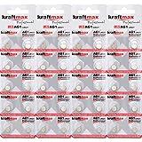 Kraftmax - Lote de 40 pilas de botón tipo 364 (AG1/LR621/LR60) de alto rendimiento / batería de reloj de 1,5 V para aplicaciones profesionales - última generación
