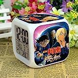 HHIAK666 Reloj Despertador Detective Conan, Reloj Despertador De Humor De Color 7 Color, Reloj Quad Led De Regalo Creativo 18