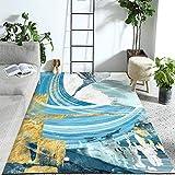 alfombras Salon Grandes Natural Suave decoración - La alfombra de pintura de tinta exquisita multicolor para sala de estar es cómoda, duradera y fácil de cuidar, alfombra antideslizante-Los 40CMx60CM
