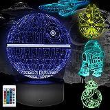 Lampara Star Wars 3D, 5 Pack 3D Lampara Noche 4 Modos de Flash y 16 Colores Lámpara de Ilusión Regalo Perfecto para Niños y Fanáticos de Star Wars
