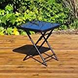 Kingfisher - Mesa Plegable para jardín o Patio - Ideal para Bebidas - Color Negro