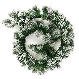 ZHANGYY 2pcs 1.8M/6Ft Christmas Garland Decoration Green Garland Snow Frosted Artificial Wreath para Chimenea Escaleras Puertas Patio Árbol de Navidad, Coronas y guirnaldas, 2pcs Guirnal