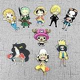 Fingertoys One Piece Imán de Nevera Pegatina, 9 PC Anime Japonés Lindo Cartoon Refrigerador Imanes 3D Kawaii Divertido Imanes para Refrigerador Pizarra Artes Manualidades Decoración - Estilo 02-9 PC