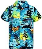 V.H.O. Funky Camisa Hawaiana, Surf, Turquesa, L